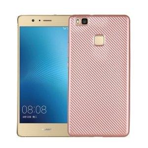 Etui Carbon Fiber Huawei P9 lite różowo -złoty/rose gold