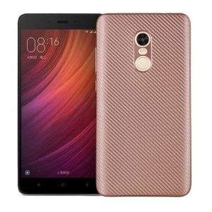 Etui Carbon Fiber Xiaomi Note 4/4X różow o-złoty /rosegold