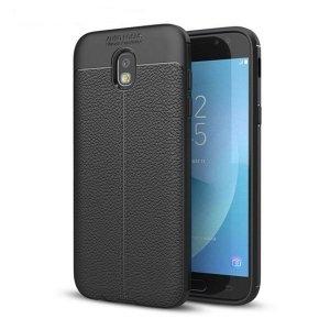 Etui Grain Leather Samsung J7 J730 2017 czarny/black