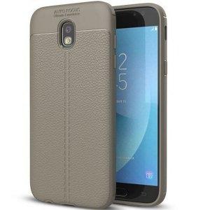 Etui Grain Leather Samsung J7 J730 2017 szary/grey
