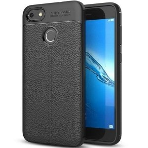 Etui Grain Leather Huawei P8 Lite 2017 czarny/black