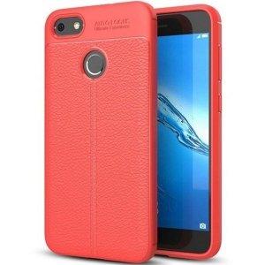 Etui Grain Leather Huawei P8 Lite 2017 czerwony/red