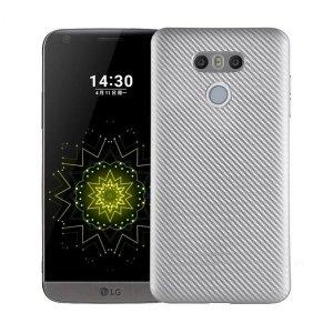 Etui Carbon Fiber LG G6 srebrny/silver