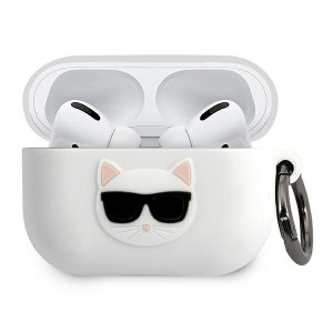 Karl Lagerfeld KLACAPSILCHWH AirPods Pro cover biały/white Silicone Choupette