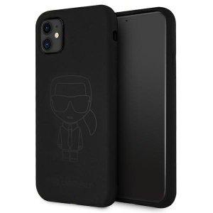 Karl Lagerfeld KLHCN61SILTTBK iPhone 11 Silicone Ikonik Outline czarny/black