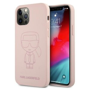 Karl Lagerfeld KLHCP12LSILTTPI iPhone 12 Pro Max 6,7 Silicone Ikonik Outline różowy/pink