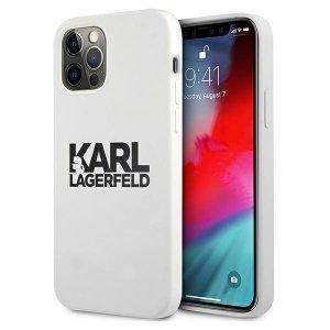 Karl Lagerfeld KLHCP12LSLKLWH iPhone 12 Pro Max 6,7 Silicone Stack Logo biały/white