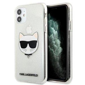 Karl Lagerfeld KLHCN61CHTUGLS iPhone 11 srebrny/silver hardcase Glitter Choupette