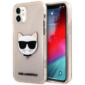 Karl Lagerfeld KLHCP12SCHTUGLGO iPhone 12 mini 5,4 złoty/gold hardcase Glitter Choupette