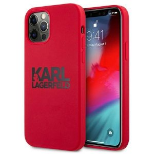 Karl Lagerfeld KLHCP12LSLKLRE iPhone 12 Pro Max 6,7 Silicone Stack Logo czerwony/red