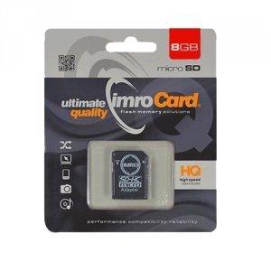 Karta pamięci microSD 8GB Imro + adp 10C