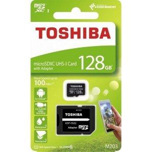 Karta pamięci microSDXC 128GB Toshiba10C 100MB/s UHS-I U1 (M203)