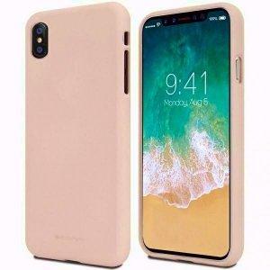 Mercury Soft Samsung A42 5G A426 różowo-piaskowy/pink sand