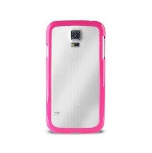 Puro Clear Cover Samsung G900 S5 różowy SGS5CLEARPNK