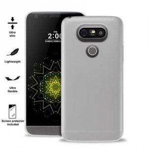 Puro Ultra Slim 0.3 LG G5 półprzeźroczys + folia LGG503TR