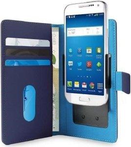 PURO Smart Wallet XL etui uniwersalne niebieskie/blue 5.1 z uchwytem foto oraz kieszeniami na karty i pieniądze UNIWALLET3