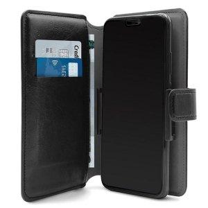 PURO Wallet 360° XL etui uniwersalne czarne/black obrotowe z kieszeniami na karty UNIWALLET4BLKXL