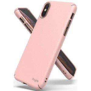 Ringke Slim iPhone X/Xs różowy/peach pink SLAP0031