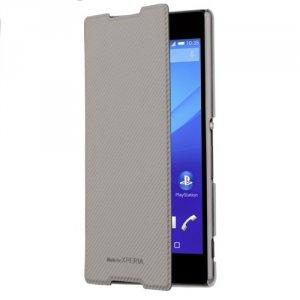 Roxfit Book Case Ultra Xperia Z5 srebrny SMA5160S