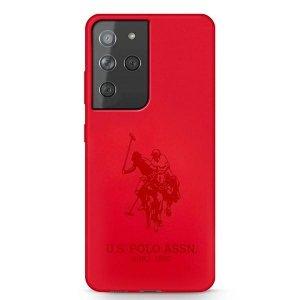 US Polo USHCS21LSLHRTRE S21 Ultra G998 czerwony/red Silicone On Tone