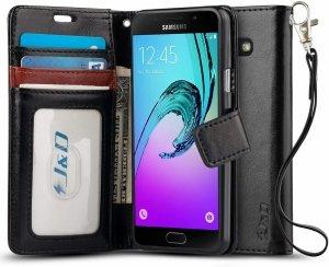 FYY Samsung Galaxy A5 2016 A510 - Etui book case ze smyczką (black)