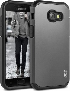 BEZ - Rugged Hybrid Dual Layer Hard Shell Armor Etui Samsung Galaxy A3 2017 A320 (grey)