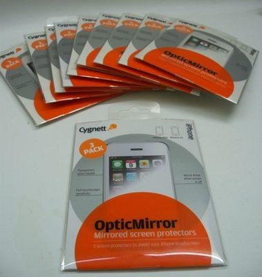 CYGNETT OpticMirror - LUSTRZANA FOLIA OCHRONNA DO APPLE iPHONE 3 3GS - 3 szt.