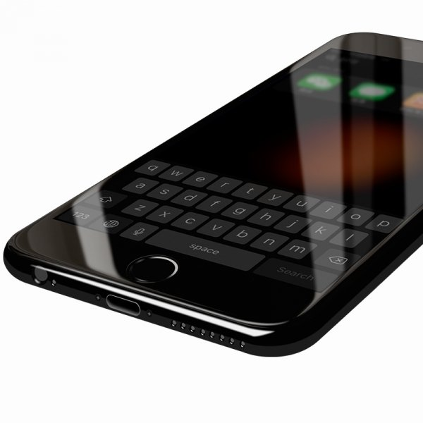 "HardGlass MAX 5D - Szkło Hartowane na cały ekran do Apple iPhone 7 / 8  (4,7"") kolor czarny"