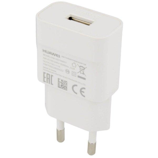 HUAWEI ORYGINALNA ŁADOWARKA SIECIOWA HUAWEI HW 050100E01 z kablem USB P9 Lite 2017 , P9 Lite mini , Y6 Y7 2018 (biała)