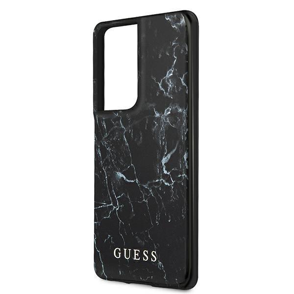 Guess GUHCS21LPCUMABK S21 Ultra G998 czarny/black hardcase Marble