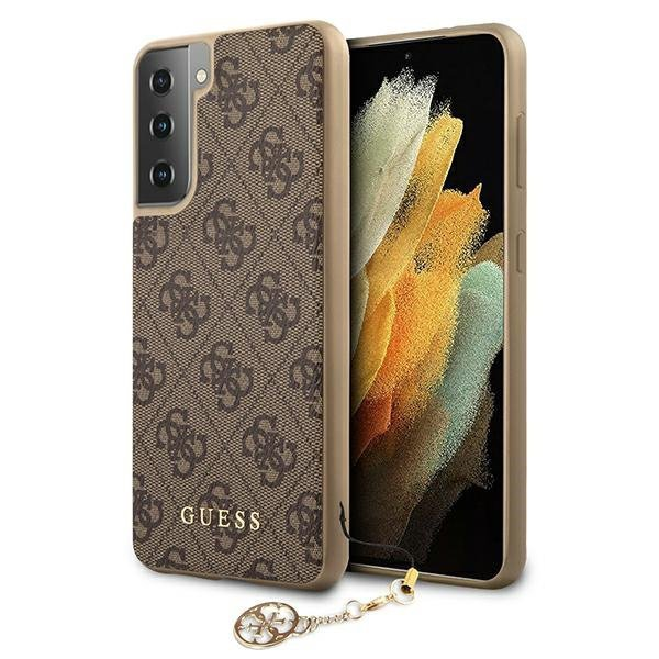 Guess GUHCS21MGF4GBR S21+ G996 brązowy/brown hardcase 4G Charms Collection