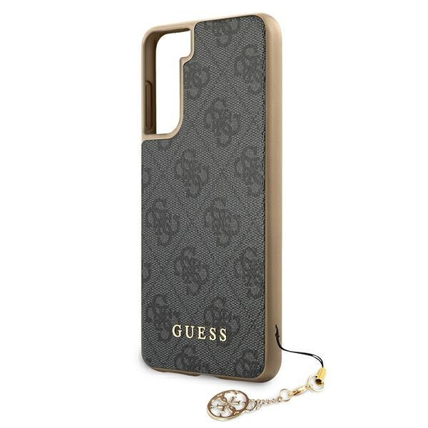 Guess GUHCS21MGF4GGR S21+ G996 szary/grey hardcase 4G Charms Collection