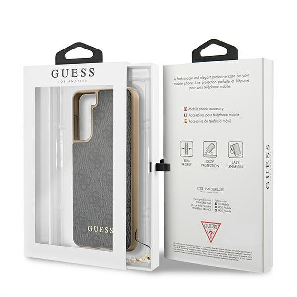Guess GUHCS21SGF4GGR S21 G991 szary/grey hardcase 4G Charms Collection