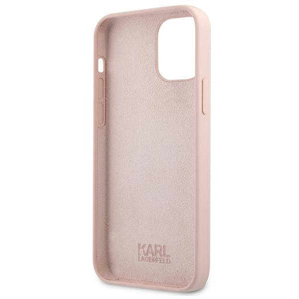 """Karl Lagerfeld KLHCP12SSILTTPI iPhone 12 mini 5,4"""" Silicone Ikonik Outline różowy/pink"""