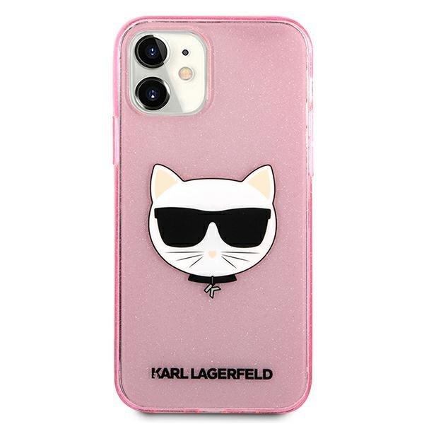 "Karl Lagerfeld KLHCP12SCHTUGLP iPhone 12 mini 5,4"" różowy/pink hardcase Glitter Choupette"