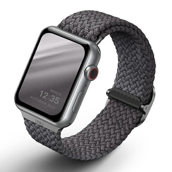 UNIQ pasek Aspen Apple Watch 44/42mm Braided szary/granite grey