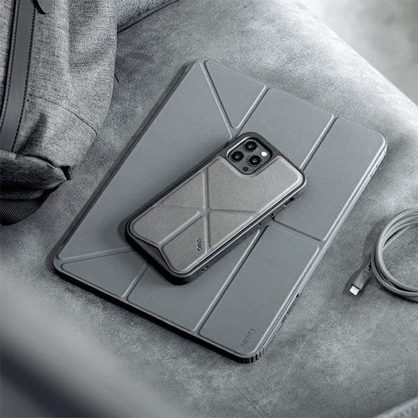 "UNIQ etui Moven iPad Pro 12,9"" (2021) Antimicrobial szary/charcoal grey"