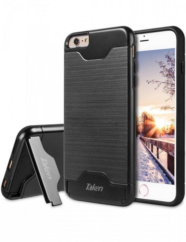 TAKEN - MOCNE ETUI Z PODSTAWKĄ - iPhone 6 PLUS 6+ , 6S PLUS 6S+ (5.5) black