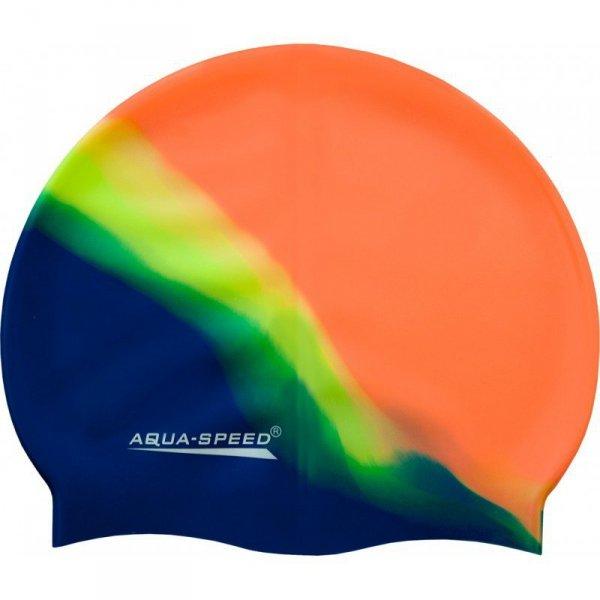 Czepek pływacki Aqua-Speed Bunt tęczowy kol. 48