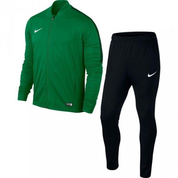 Dres dla dzieci Nike Academy 16 Knit Tracksuit JUNIOR zielono-czarny 808760 302