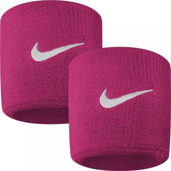 Frotka na rękę Nike Swoosh różowo biała 2szt NNN4639