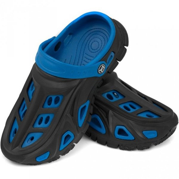 Klapki dla dzieci Aqua-Speed Miami czarno-niebieskie 01