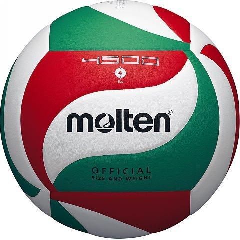Piłka siatkowa Molten V4M4500 biało-czerwono-zielona