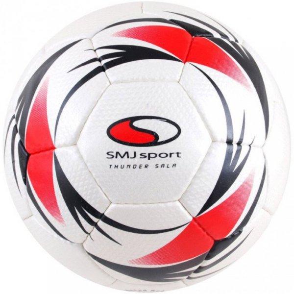 Piłka nożna SMJ Indor Thunder Sala biało-czerwono-czarna