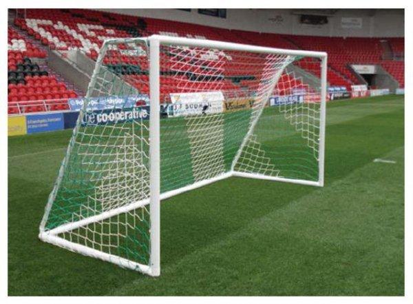 Siatka do piłki nożnej młodzieżowa Domeks 5x2m PE 2,5 kolorowa