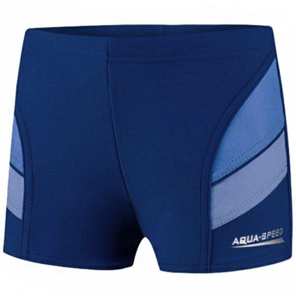 Spodenki kąpielowe dla chłopca Aqua-Speed Andy granatowo niebieskie 42 349