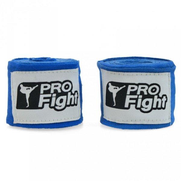 Bandaż bokserski Profight 4m niebieski