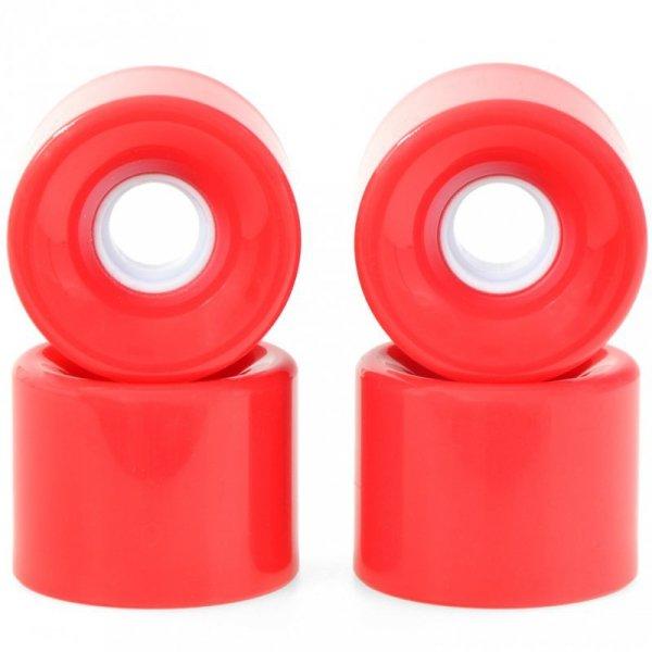 Kółka SMJ do deskorolki plastikowej 59x46mm 4szt. czerwone