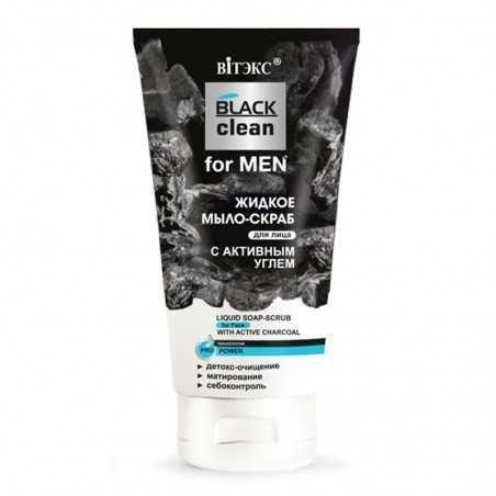 Mydło-Peeling do Twarzy z Aktywnym Węglem BLACK CLEAN FOR MEN