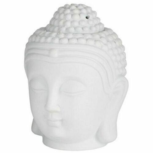 Głowa Buddy Kominek Zapachowy Ceramiczny, Biały